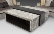 Durante Furniture Croc Embossed Velvet Ottoman with Storage