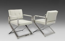Durante Furniture Polished Stainless Dining Chairs